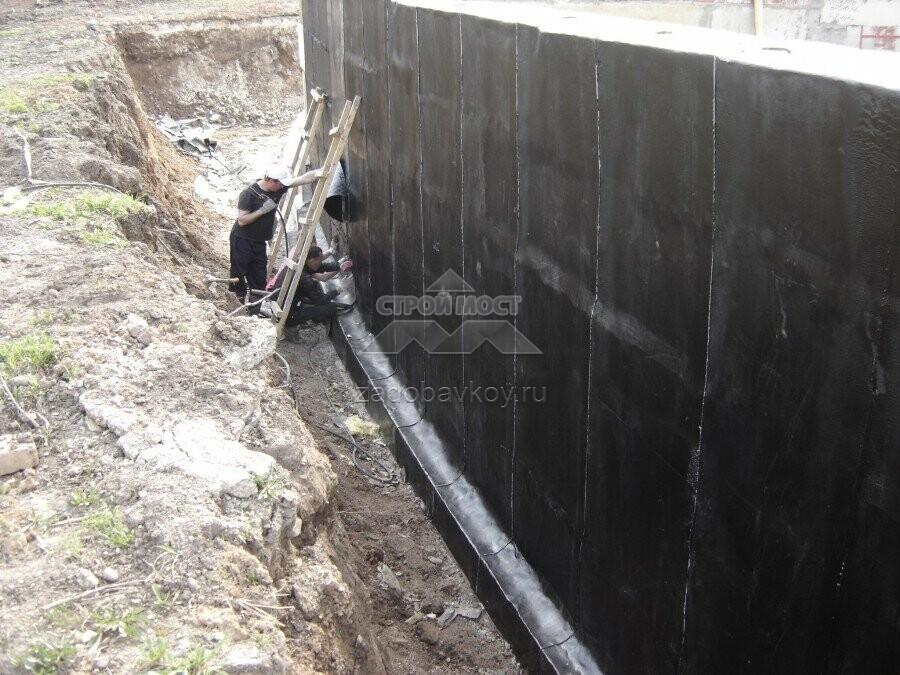 Гидроизоляция стен фундаментов