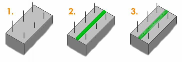 Герметизация стыков при монтаже панельных конструкций гидрофильными материалами «@SALEX»